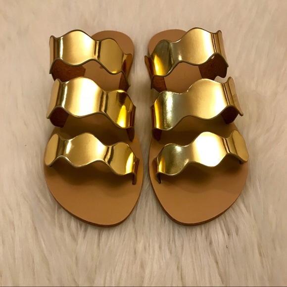 ShopBossyJocey Shoes - •LAST 3• Athens Metallic Gold Sandals